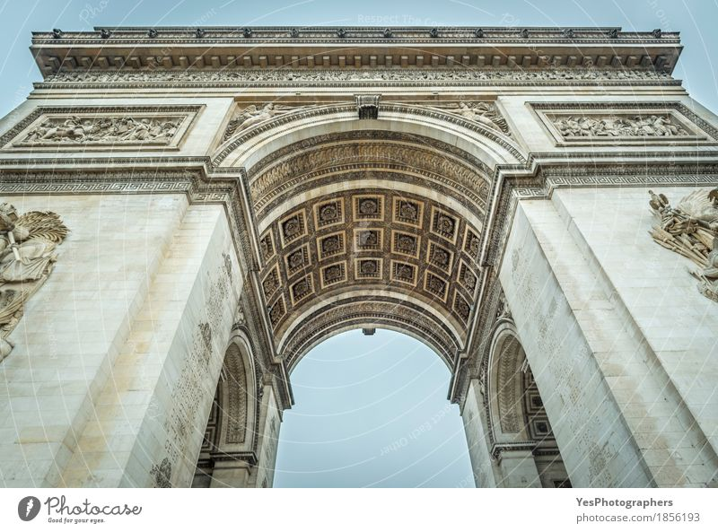 Arc de Triomphe of Paris in details Design Vacation & Travel Tourism Culture Town Capital city Building Architecture Tourist Attraction Landmark Monument