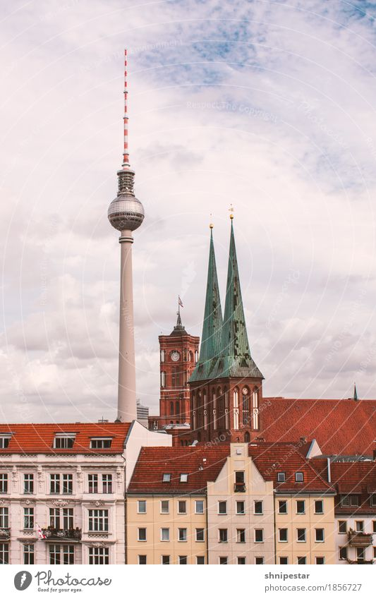 Sky Vacation & Travel Town Clouds House (Residential Structure) Architecture Berlin Building Germany Tourism High-rise Church Tower Manmade structures Discover