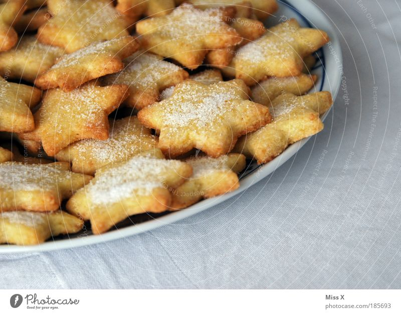 Christmas & Advent Small Food Nutrition Cooking & Baking Stars Sweet Star (Symbol) Delicious Candy Overweight Dessert Anticipation Plate Sharp-edged Baked goods