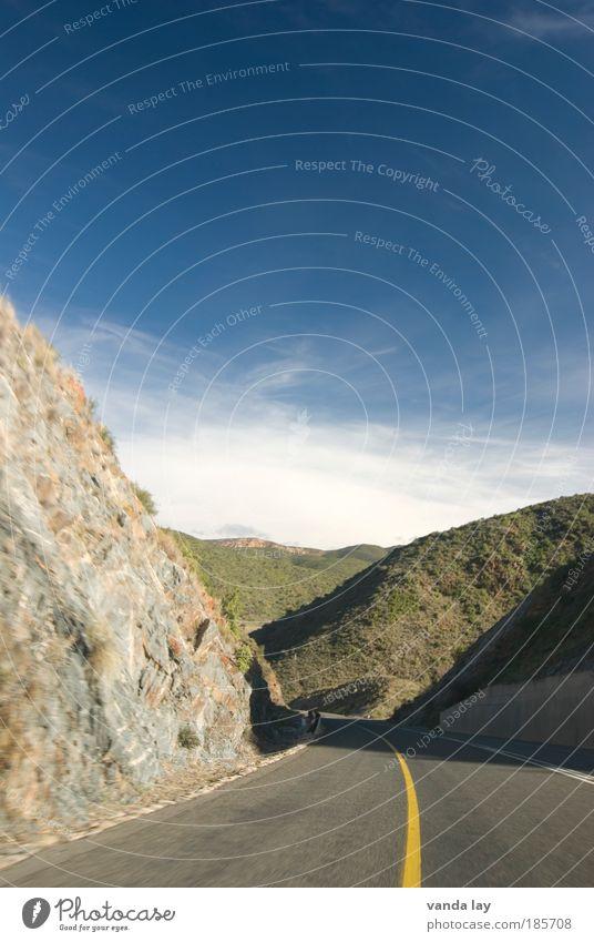 Street Mountain Freedom Landscape Transport Rock Highway Traffic infrastructure Motoring South Africa Median strip