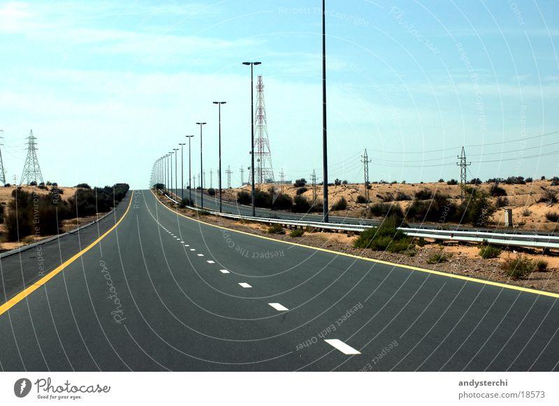 Emirates Road Highway Dubai United Arab Emirates Asphalt road would know emirates road