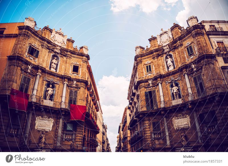 City view detail of Palermo city, Sicily, Italy - a Royalty Free ...