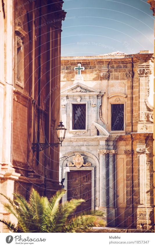 City view detail of Palermo city, Sicily, Italy Vacation & Travel Old House (Residential Structure) Street Architecture Style Building Art Tourism Facade Church