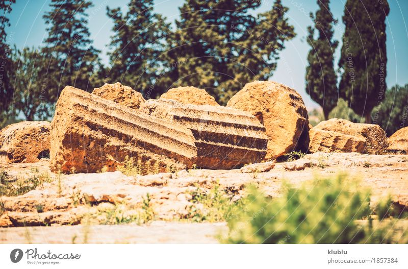 Valley of the Temples in Agrigento, Sicily, Italy Vacation & Travel Old Landscape Architecture Religion and faith Stone Tourism Europe Italy Historic Museum Ruin God Sicily Ancient Valley