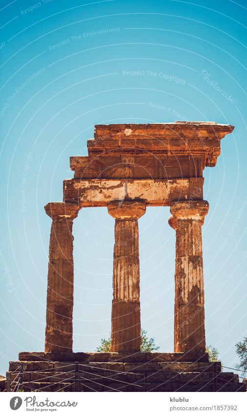 Valley of the Temples in Agrigento, Sicily, Italy Vacation & Travel Old Architecture Religion and faith Stone Tourism Europe Italy Historic Ruin God Sicily Ancient Valley Temple Scene