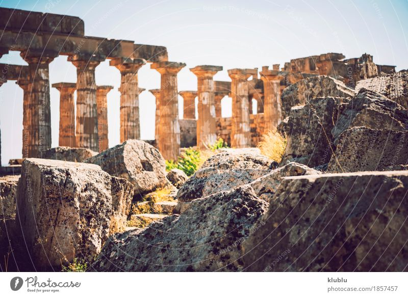 Ancient Greek Temple In Selinunte, Sicily, Italy   A Royalty Free Stock  Photo From Photocase