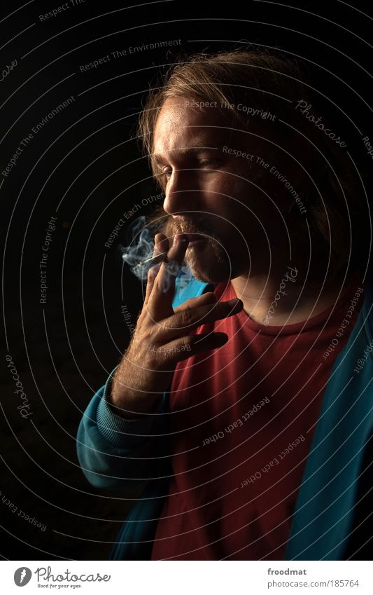 Human being Youth (Young adults) Fog Masculine Cool (slang) Smoking Tobacco products Society Passion To enjoy Smoke Cigarette Breathe Destruction Haze Addiction