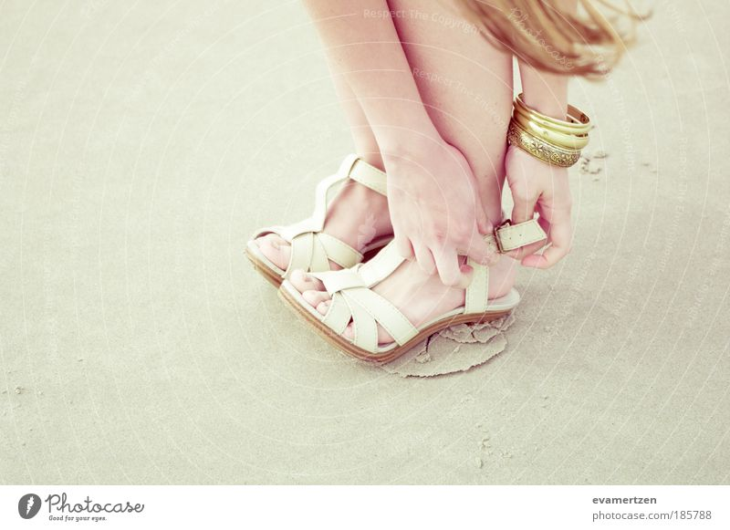 heel Lifestyle Elegant Style Beautiful Summer Beach Hand Legs Feet 1 Human being Fashion Leather Accessory Jewellery Footwear High heels Touch