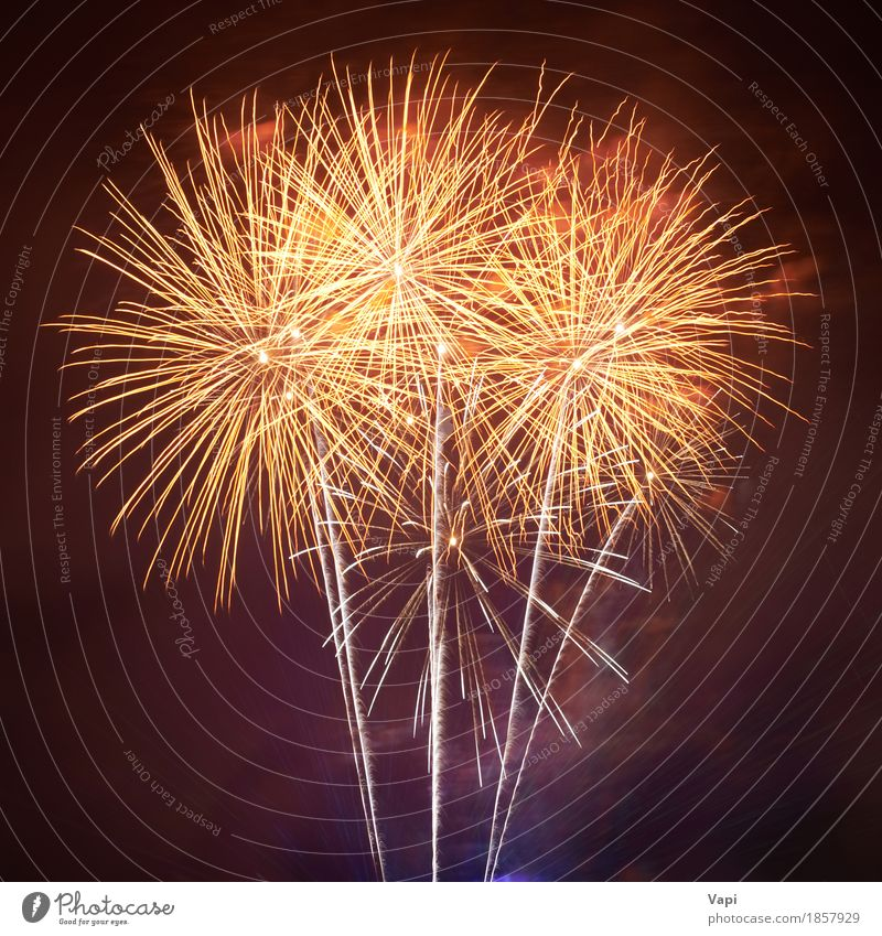 Red colorful fireworks Joy Freedom Night life Entertainment Party Event Feasts & Celebrations Christmas & Advent New Year's Eve Shows Sky Night sky Dark Bright