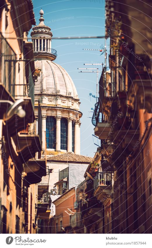 View of Ragusa, Sicily, Italy House (Residential Structure) Art Culture Village Town Church Building Architecture Facade Balcony Monument Street Old Historic