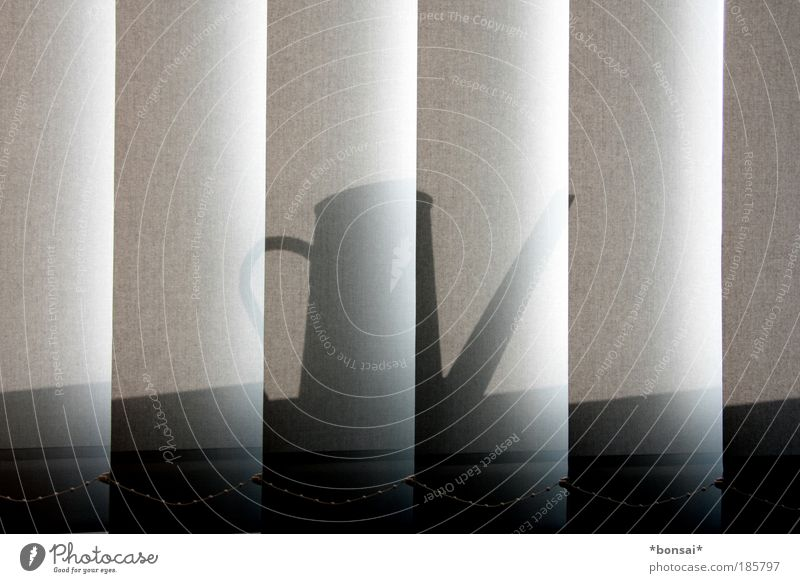 Gray Illuminate Beautiful weather Things Testing & Control Vertical Symmetry Workplace Weather protection Photos of everyday life Watering can Venetian blinds