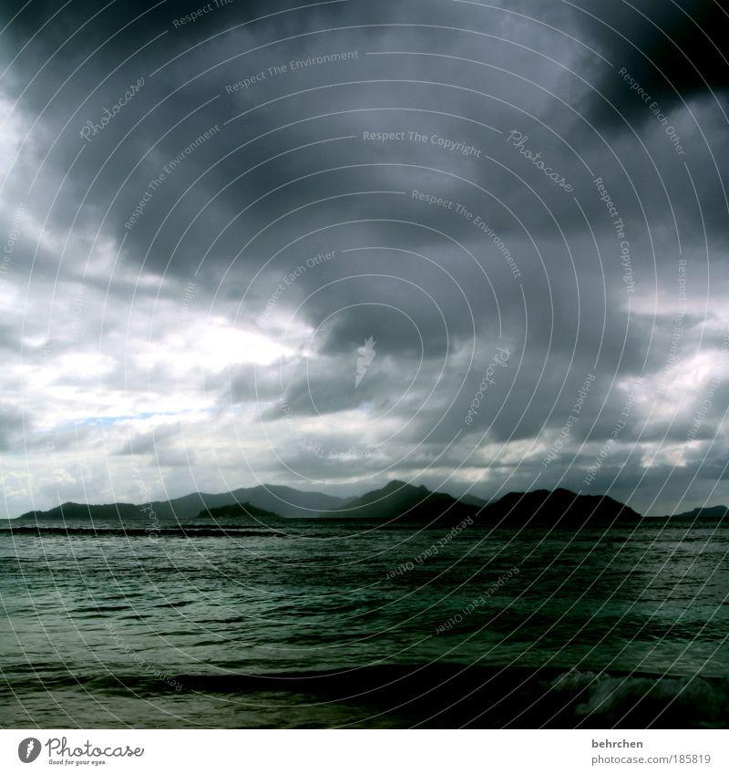 Sky Beach Vacation & Travel Ocean Clouds Far-off places Freedom Coast Rain Waves Fear Power Trip Island Dangerous Hope