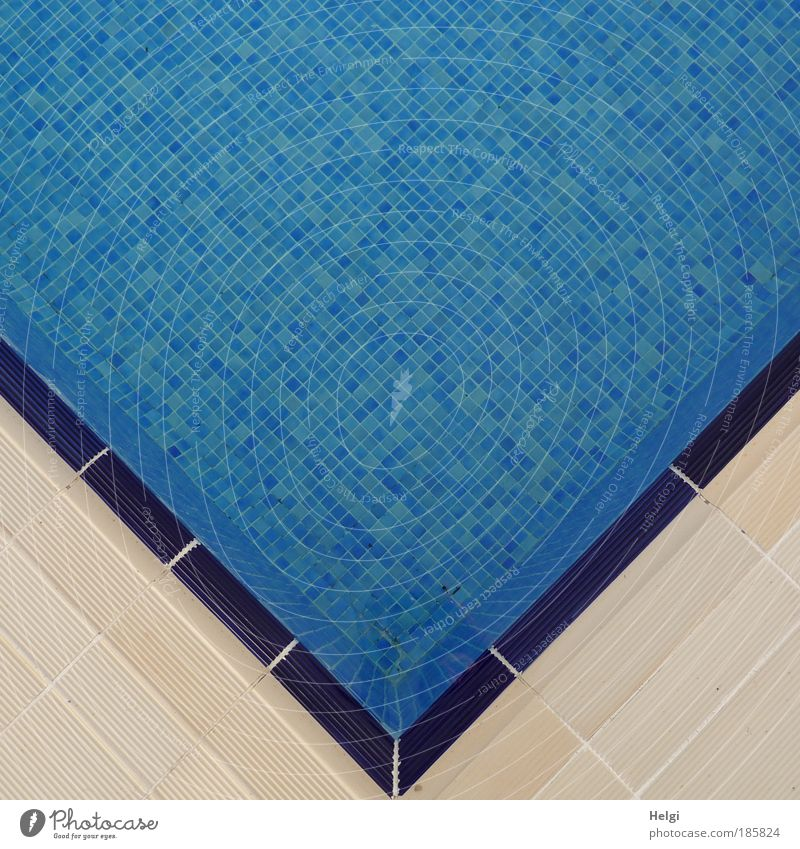 Water White Blue Vacation & Travel Cold Relaxation Stone Line Small Design Wet Perspective Esthetic Wellness Corner Swimming pool