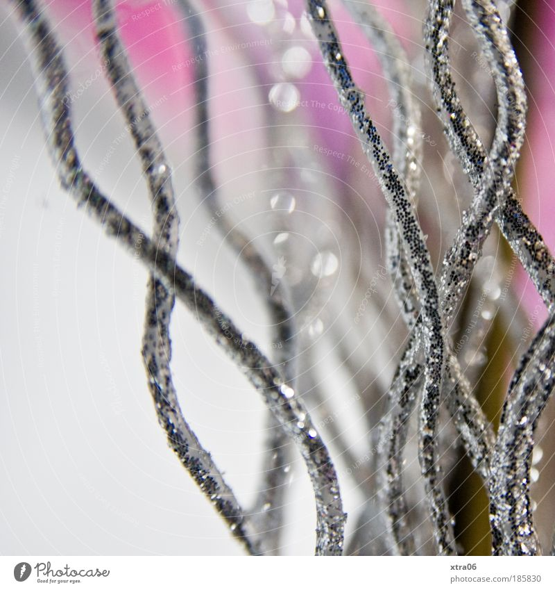 Decoration Work of art Esthetic Elegant Curved Swing Undulation Silver Glittering Pink Colour photo Interior shot Close-up Detail Macro (Extreme close-up)