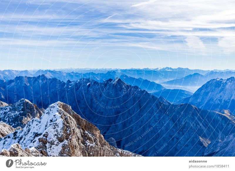 alpine country Landscape Rock Alps Mountain Peak Snowcapped peak Glacier Looking Hiking Colour photo Exterior shot Deserted Day Panorama (View)