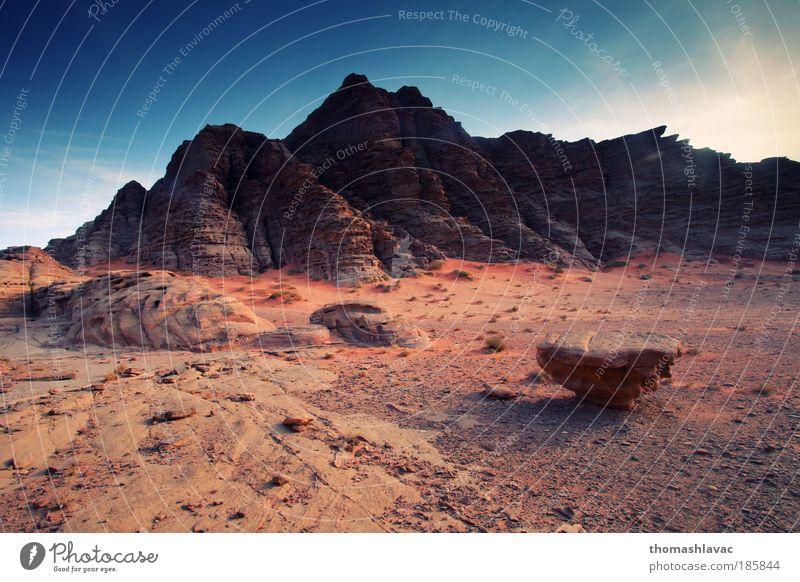 Wadi Rum desert Sky Red Mountain Landscape Sand Rock Desert