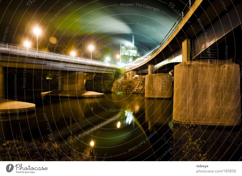 bridge magic Energy industry Industry River bank Transport Means of transport Traffic infrastructure Public transit Logistics Road traffic Street Lanes & trails