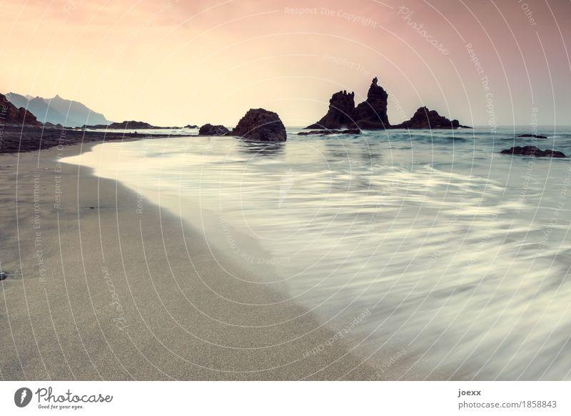 Sky Nature Vacation & Travel Blue Summer Water White Ocean Calm Beach Black Coast Freedom Rock Pink Horizon