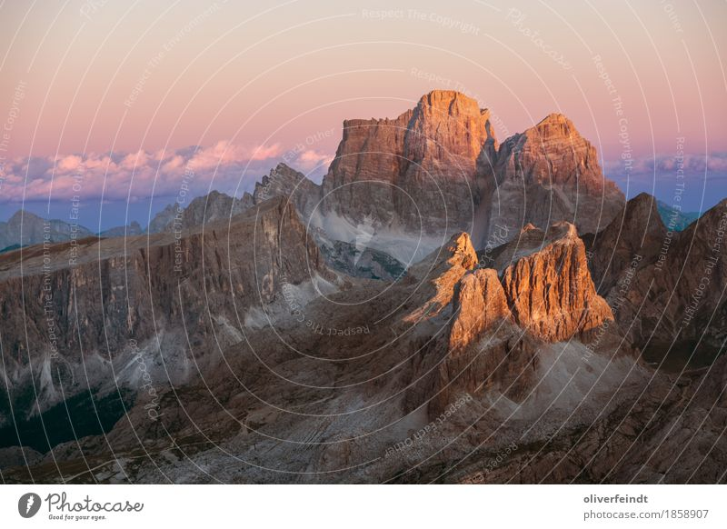 Dolomites V Vacation & Travel Tourism Trip Adventure Far-off places Freedom Expedition Mountain Hiking Environment Nature Landscape Sky Clouds Horizon Sunrise