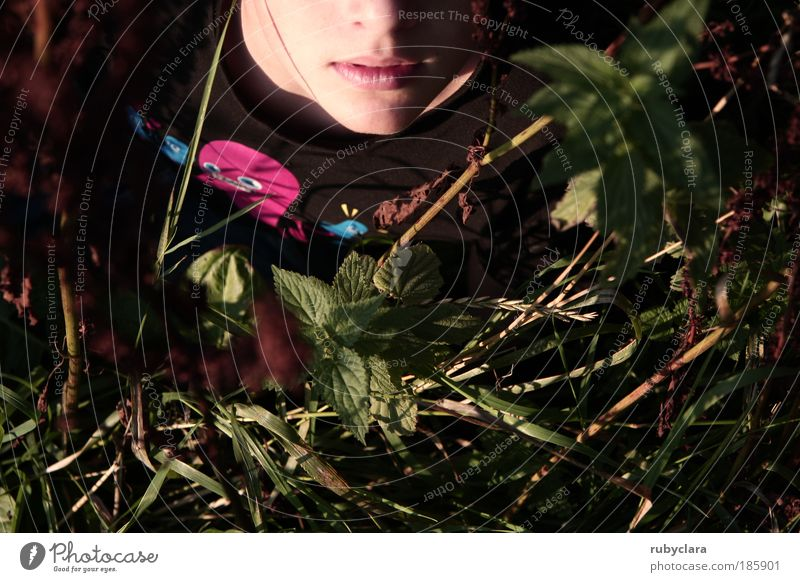 Human being Child Nature Youth (Young adults) Green Plant Flower Environment Meadow Life Grass Spring Boy (child) Head Infancy Young man