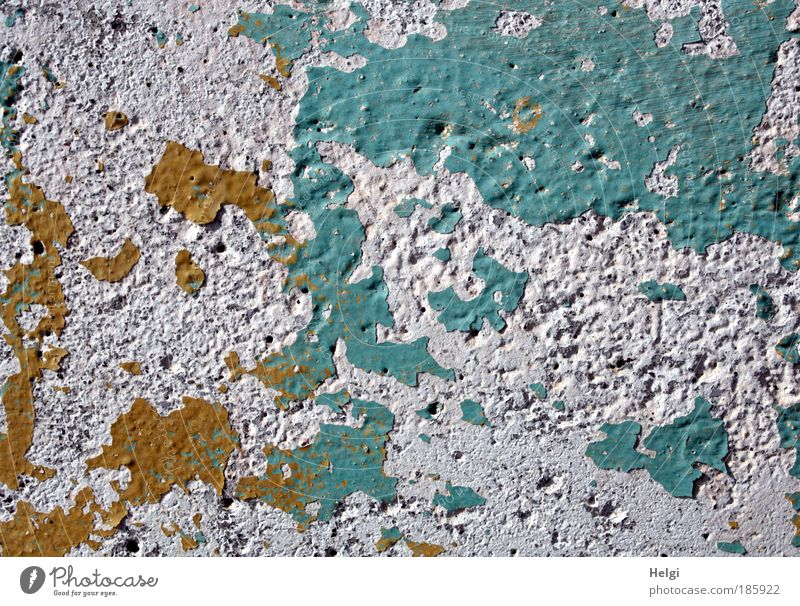 Old White Blue Yellow Colour Stone Wall (barrier) Brown Environment Time Esthetic Broken Authentic Simple Transience Exceptional