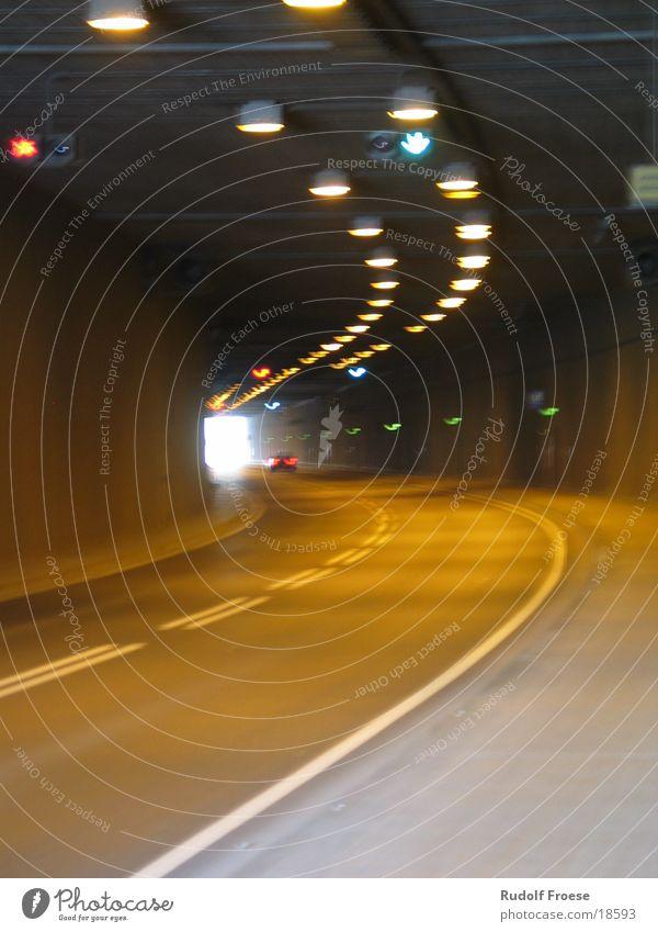 Tunnel in Frankfurt Light Bridge tunnel end
