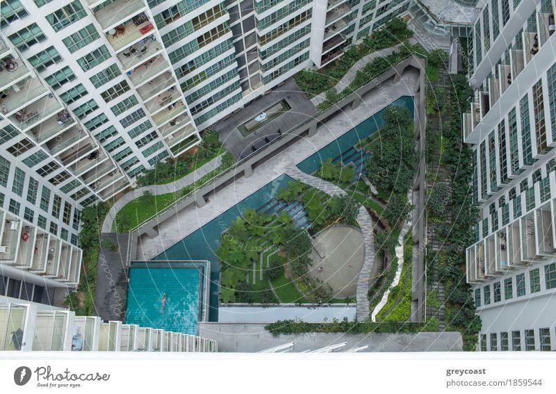 Aerial Shot Of Landscape Area Outside Apartment Blocks A Royalty Adorable Apartment Landscape Design
