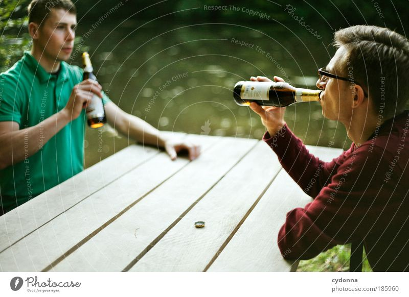 HAPPY BIRTHDAY PHOTOCASE! Beverage Beer Bottle Lifestyle Well-being Contentment Relaxation Calm Trip Freedom Summer Hiking Human being Man Adults Friendship 2