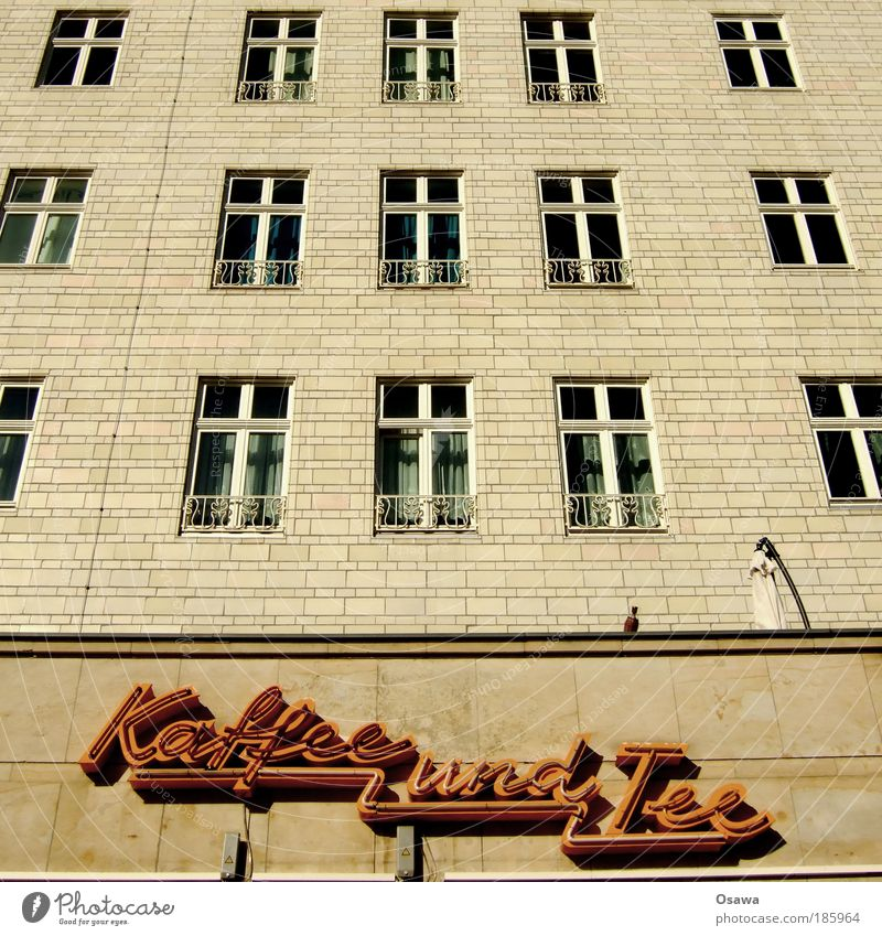 HAPPY BIRTHDAY PHOTOCASE Tea Coffee and tea Architecture Building Residential area Flat (apartment) Facade Window Tile Berlin Stalinalle Karl-Marx-Allee
