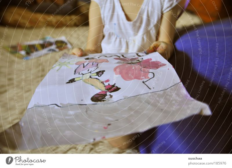 Human being Child Hand Girl Joy Feminine Art Infancy Arm Uniqueness Stop Chest Painting and drawing (object) Indicate Artist Anticipation