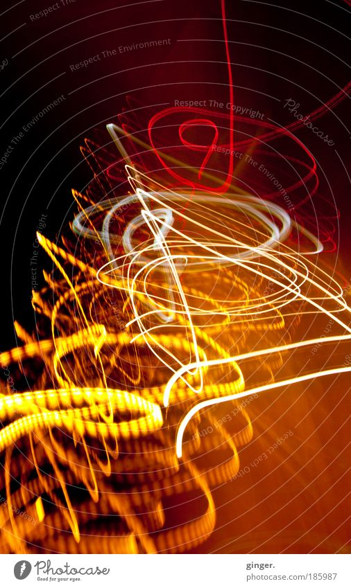 White Red Yellow Transport Crazy Warm-heartedness Observe Painting (action, artwork) Motion blur Tunnel Vehicle Motoring Road traffic Euphoria Abstract Perturbed