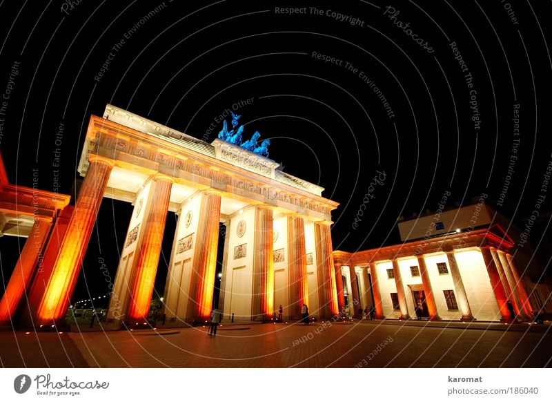 City Red Black Berlin Yellow Building Architecture Glittering Large Symbols and metaphors Culture Monument Manmade structures Art Historic