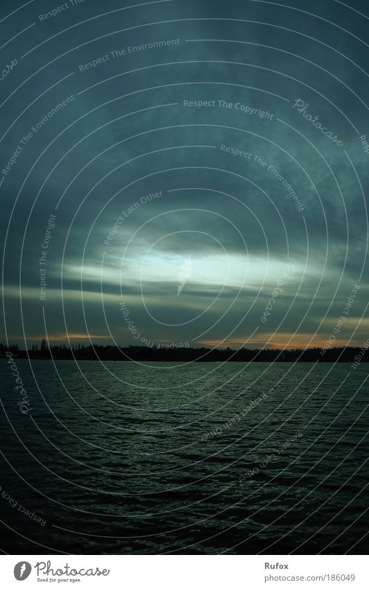 Water Sky Blue Clouds Dark Lake Air Waves Fear Wind Environment Wet Large River Threat Infinity