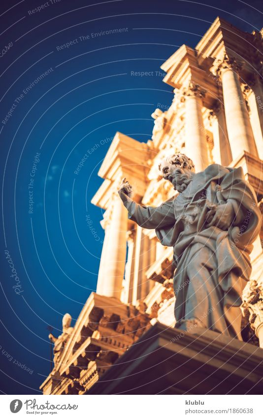 Detail view of Syracuse, Sicily, Italy Style Tourism Culture Sky Town Building Architecture Facade Monument Old siracusa Italian Greek Monumental artistic