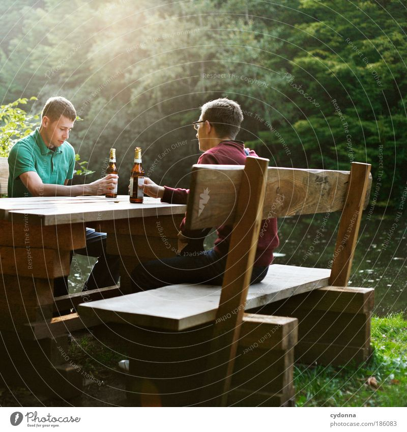 rest Beverage Beer Bottle Lifestyle Well-being Contentment Relaxation Trip Summer Man Adults Friendship 18 - 30 years Youth (Young adults) Environment Nature
