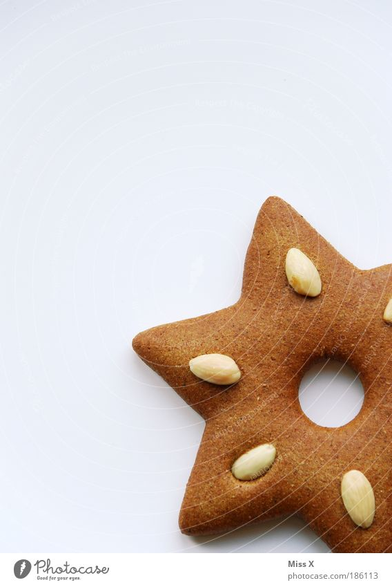 Christmas & Advent Beautiful Food photograph Small Food Nutrition Sweet Star (Symbol) Nut Delicious Candy Fragrance Sharp-edged Baked goods Partially visible Section of image