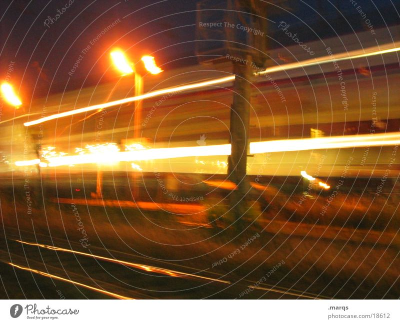 You shouldn't stop travelers. Train station Transport Speed Line Evening Long exposure