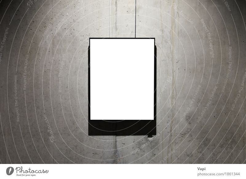 Empty white isolated frame Old White Dark Black Wall (building) Interior design Wall (barrier) Art Gray Design Dirty Decoration Modern Retro Photography Paper