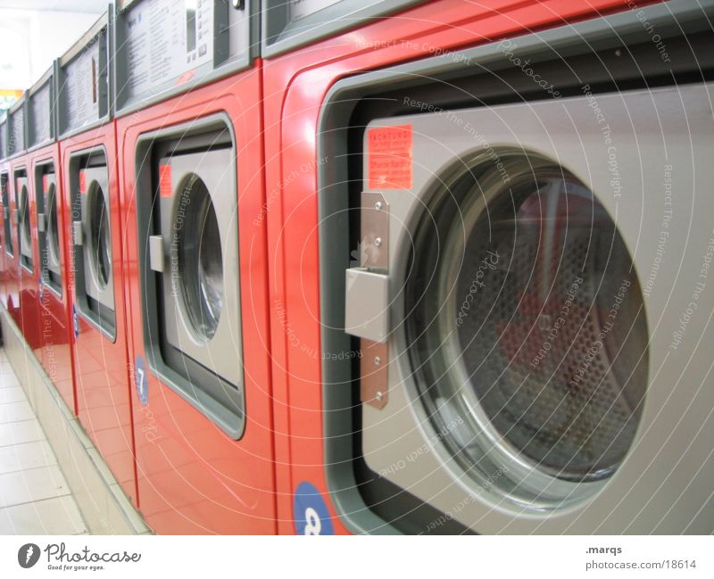 laundrette Laundry Living room Washer Last Drum Industry Orange Wait Washing Washing day