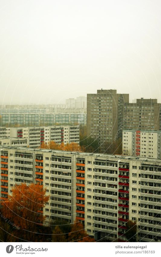 City Winter House (Residential Structure) Loneliness Dark Cold Berlin Gray Building Concrete High-rise Facade Modern Gloomy Authentic