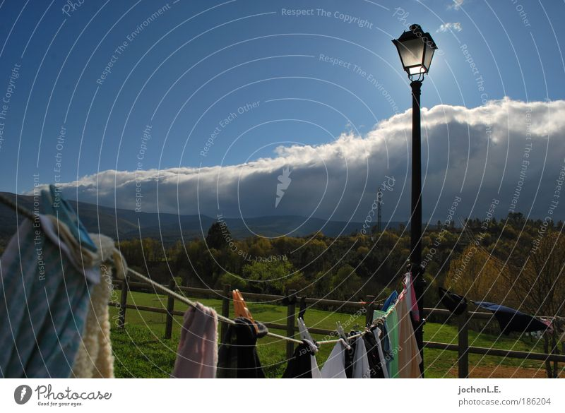 Nature Sun Clouds Relaxation Spring Garden Rope T-shirt Illuminate Dry Stockings Lighthouse Hang Underwear Optimism