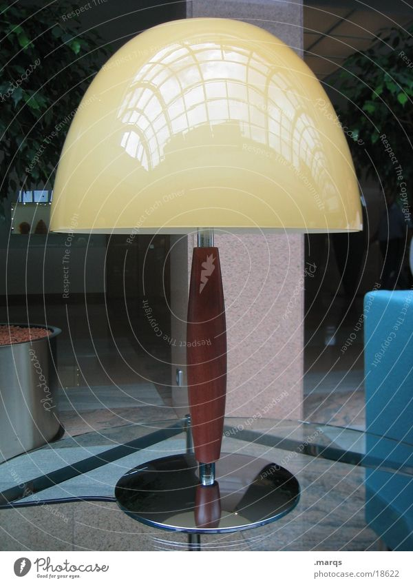 Olle Lamp Yellow Individual Things Table Living or residing Silver Detail Loneliness Boredom