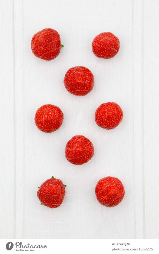White Red Food photograph Art Design Fruit Esthetic Point 8 - 13 years Work of art Symmetry Strawberry Fashioned Attentive Strawberry ice cream