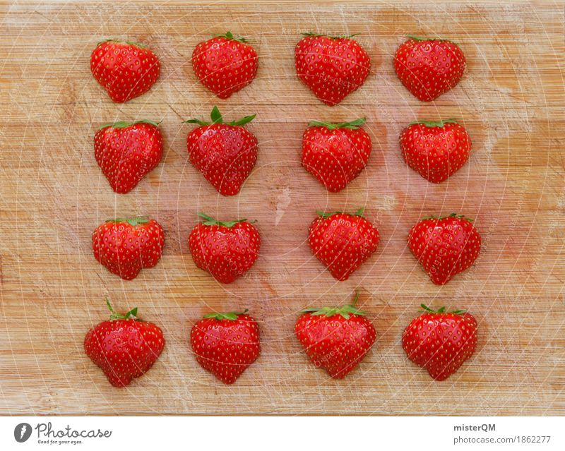 4x4 Strawberries I Art Work of art Esthetic Strawberry Strawberry ice cream Strawberry jam Strawberry variety Strawberry yoghurt Strawberry shake Healthy Eating