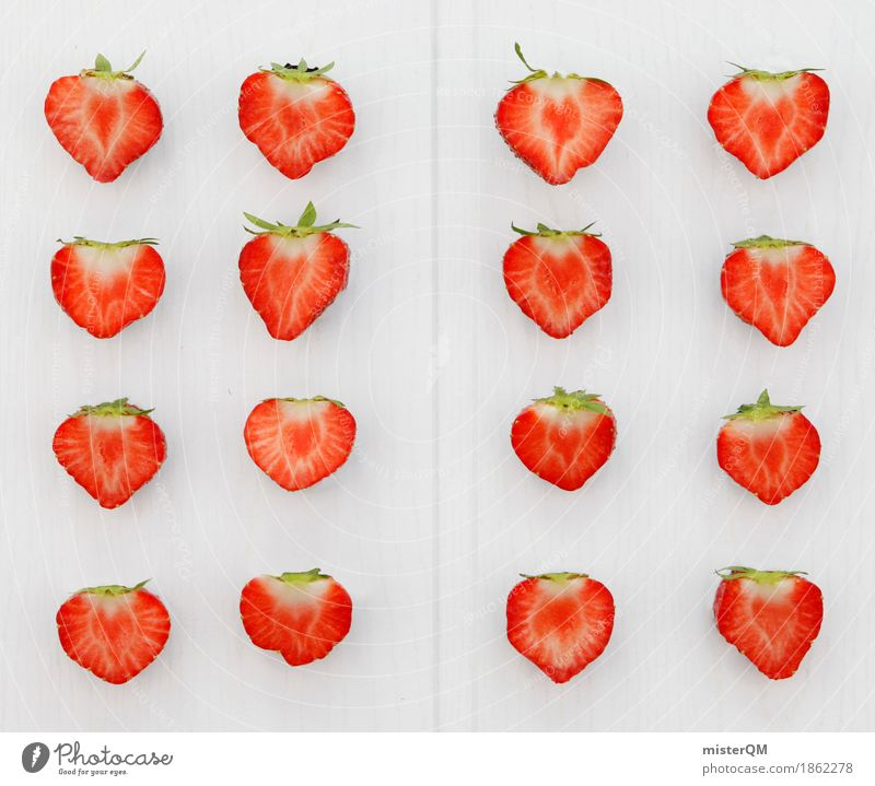Healthy Eating Red Art Design Esthetic Many Division Work of art Strawberry 16 Strawberry ice cream Strawberry blossom Bright background Strawberry variety
