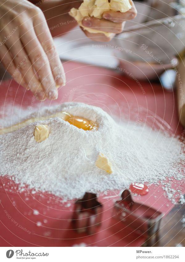 Hand Food Work and employment Nutrition Fingers Dough Handcrafts Flour Christmas biscuit Baker Butter Yolk Baking cookie cutter Egg
