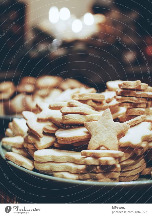 baked goods Food Nutrition Organic produce Vegetarian diet Finger food Bright Christmas & Advent Baking Cookie Stars Plate Sweet Candy Delicious Colour photo