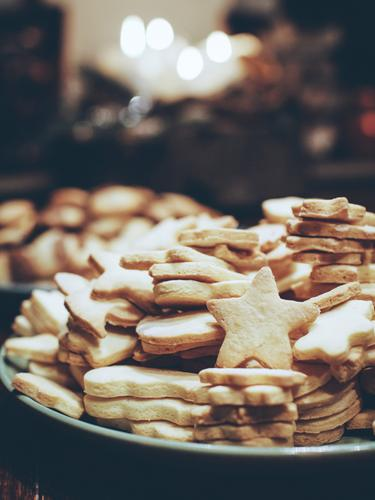 Christmas & Advent Food Bright Nutrition Sweet Stars Delicious Candy Organic produce Plate Vegetarian diet Cookie Finger food Baking