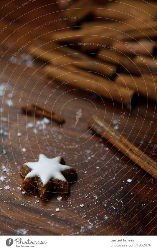 AKCGDR# cinnamon+star Art Esthetic Star cinnamon biscuit Cinnamon Card Advent Calendar Sugar Christmas & Advent Delicious Brown Star (Symbol) Colour photo