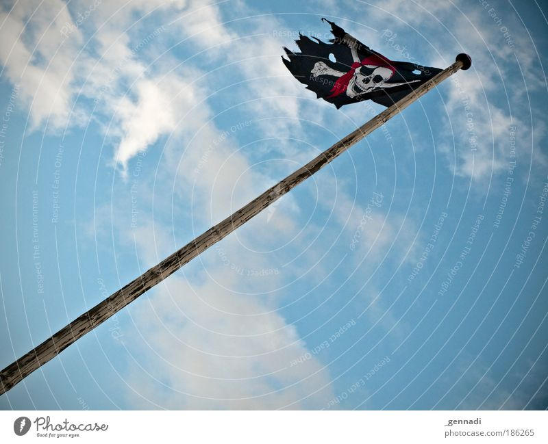 Sky Aviation Flag Human being Flagpole Pirate Death's head